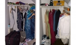 Before and After Bedroom Closet