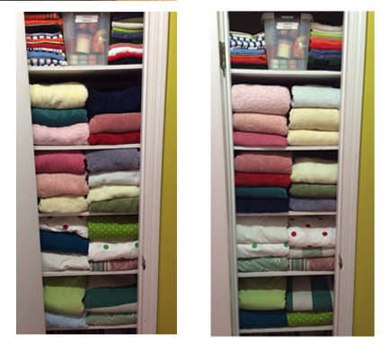 lighter linen closet