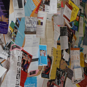 messy bulletin board